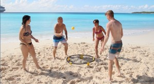Circles Of Light Beach Spike Ball