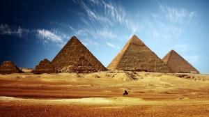 Circles of Light at the Pyramids of Giza